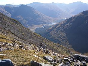 Glen Etive from the Col